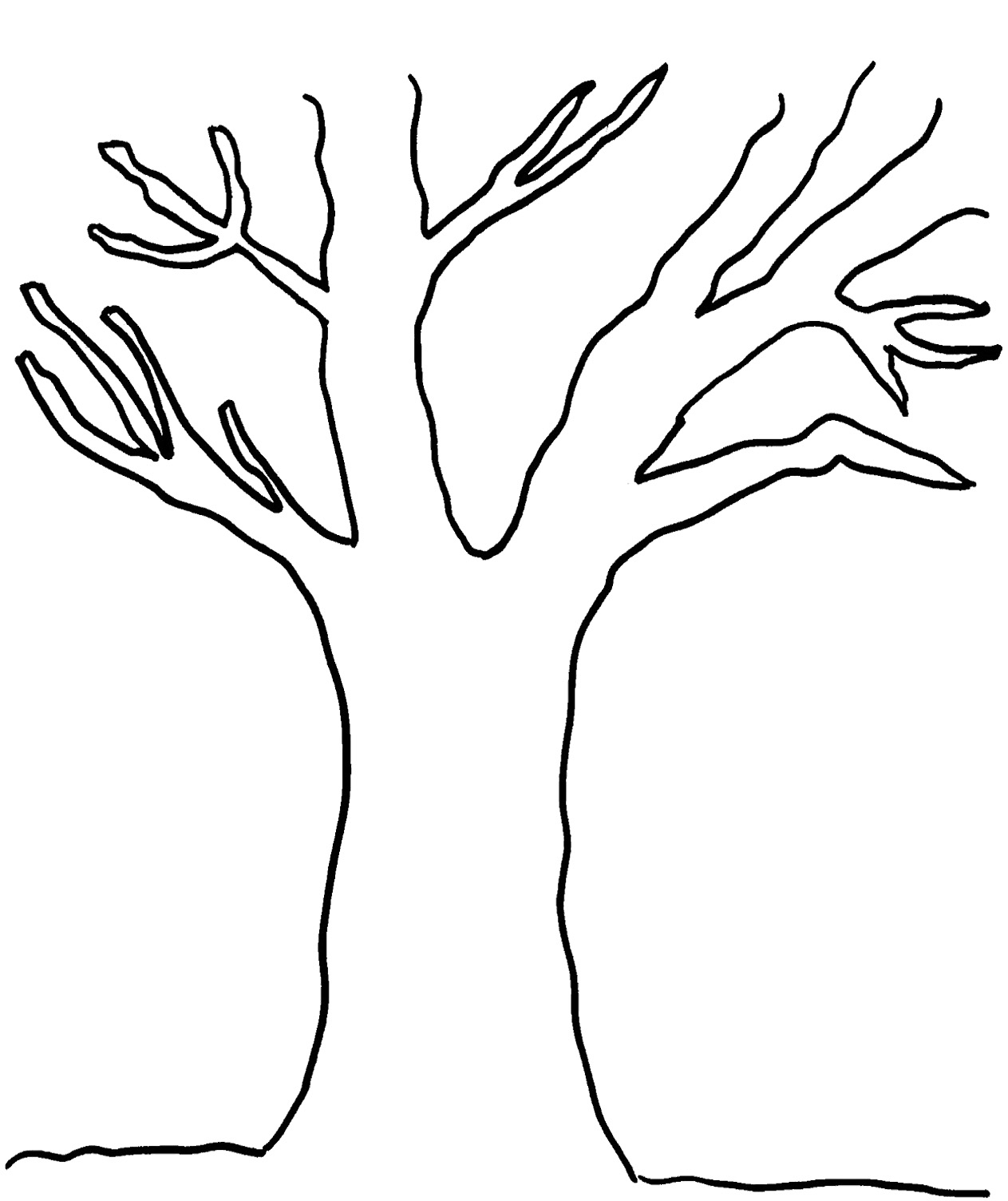 Tree With Leaves Black And White Clipart & Free Clip Art.