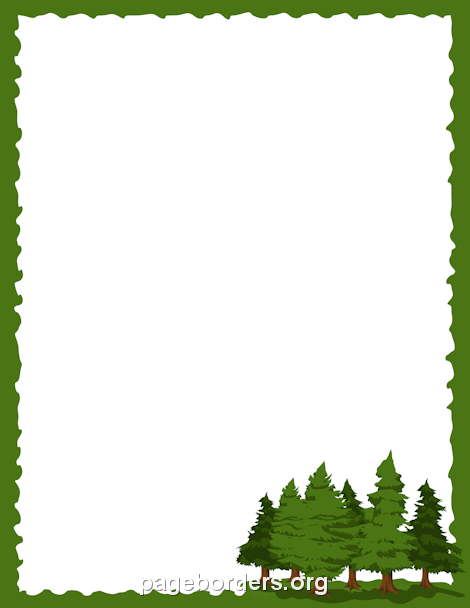Pine Tree Border Clipart.