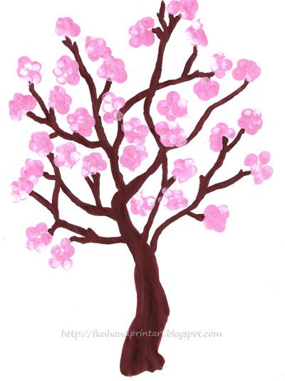 Cherry Tree Clipart Easy.