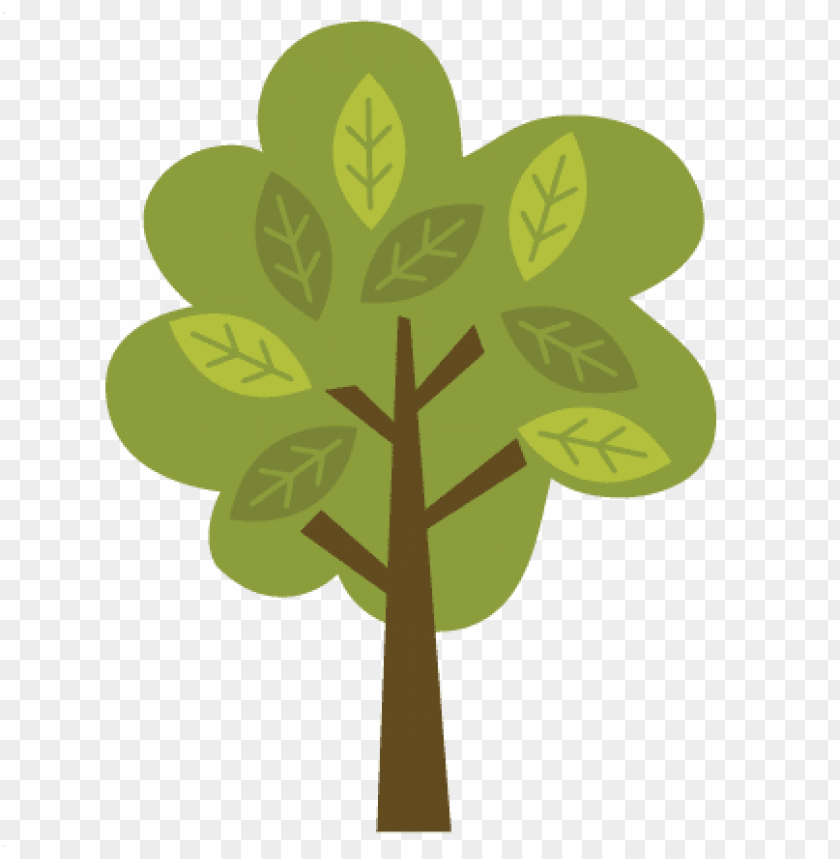 tree with leaves svg file for scrapbooking and cardmaking.