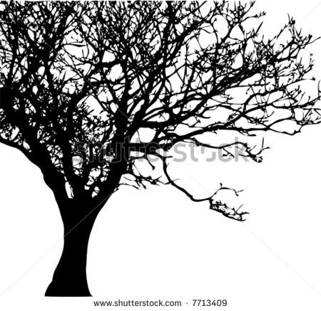 Trees black white clip art Free vector for free download.