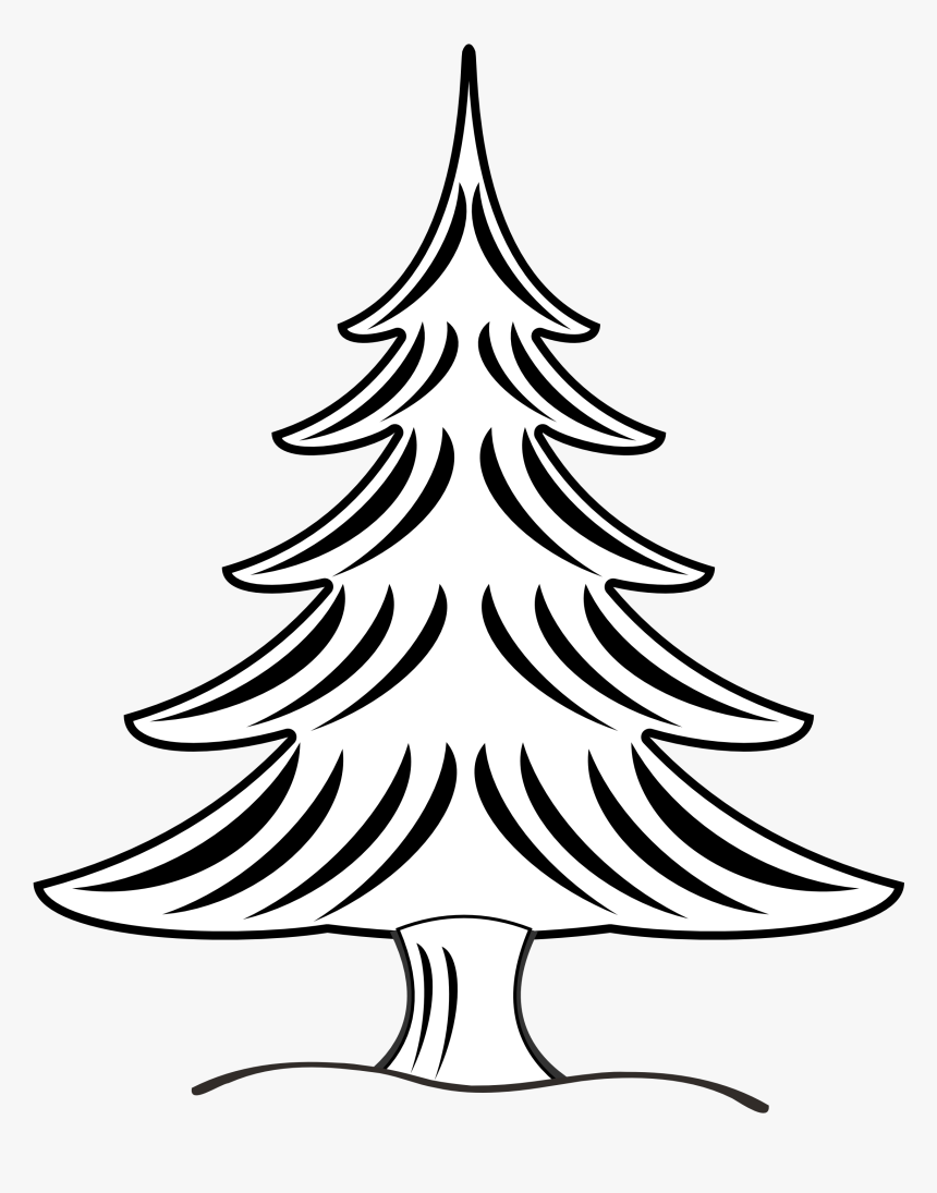 Christmas Tree Black And White Snow Christmas Tree.