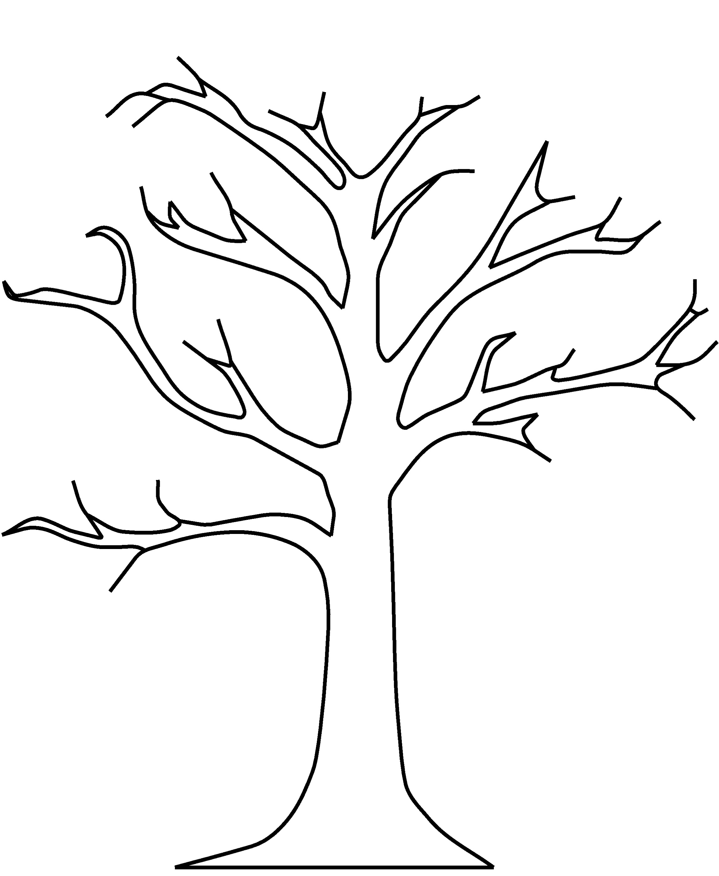 Tree Clipart Black And White No Leaves.