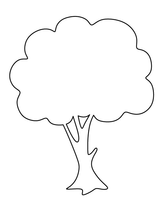 Tree clipart outline 4 » Clipart Station.