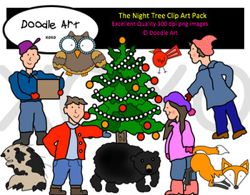 The Night Tree Clipart Pack.