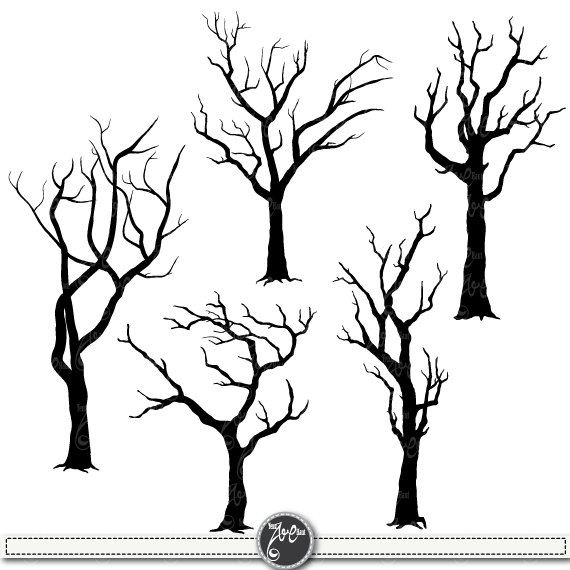 Tree Silhouettes Clipart \