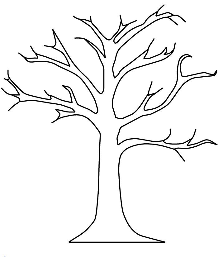 Bare Tree Without Leaves Coloring Pages.