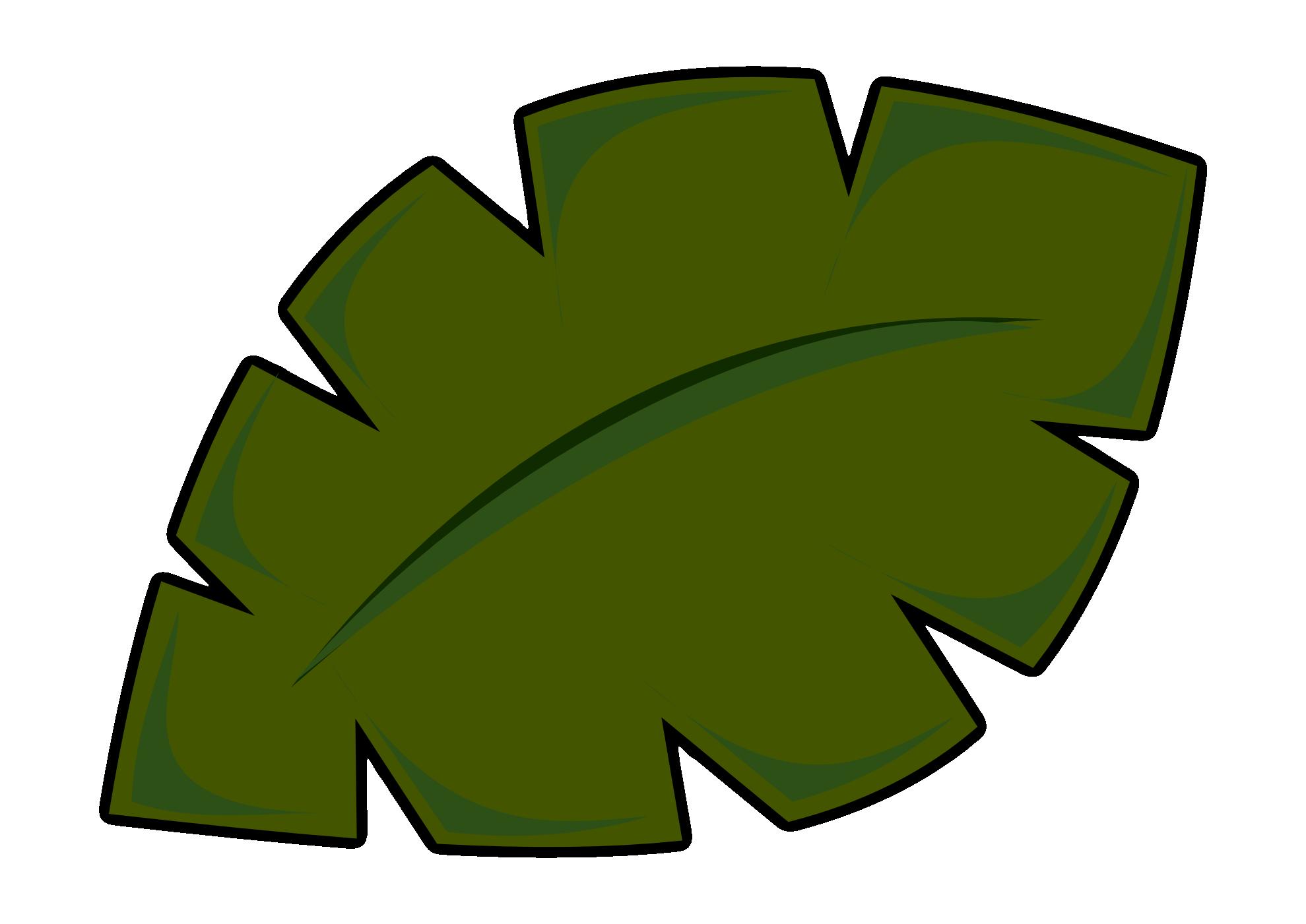 Jungle Leaf Template.