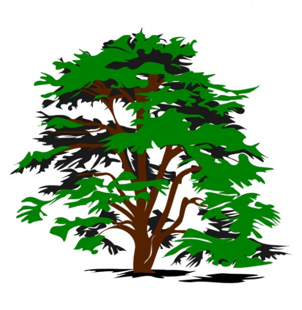 Simple Nature Tree Vector Clipart.