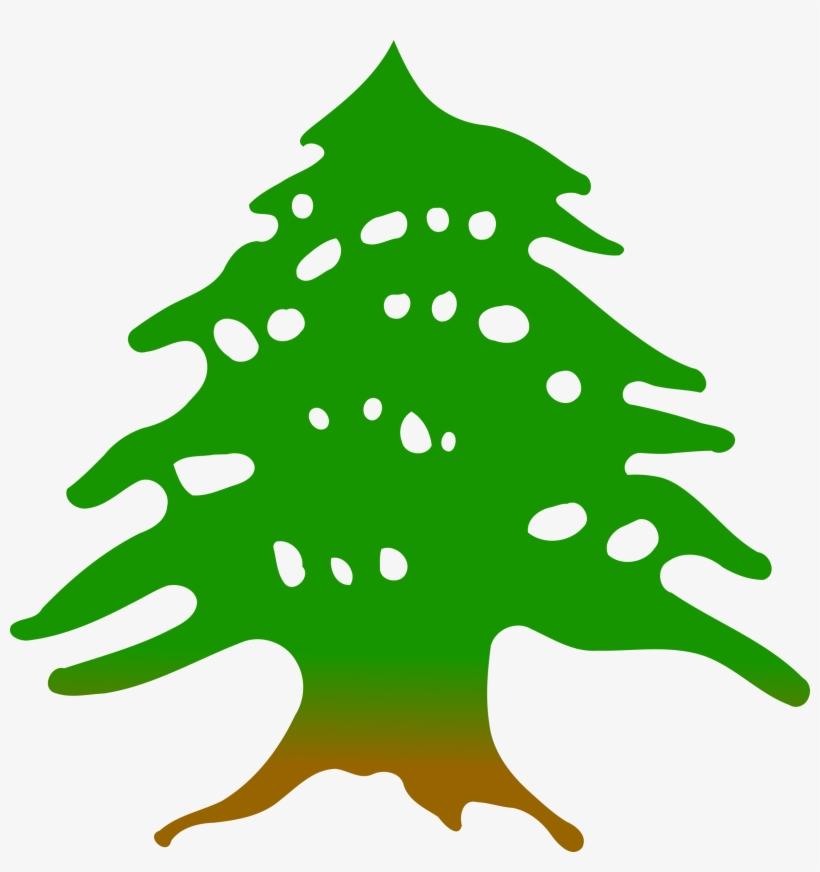 Cedar Tree By @firkin, Clipped From A Public Domain.