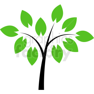 vector tree design no background clipart. Royalty.