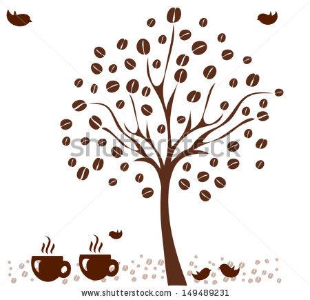 Vector Coffee Tree Coffee Beans Stock Vector 150007532.