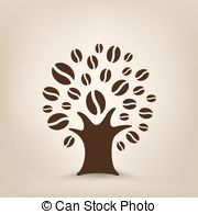 Clip Art Vector of coffee tree.