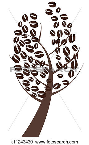 Clipart of coffee tree k11243430.
