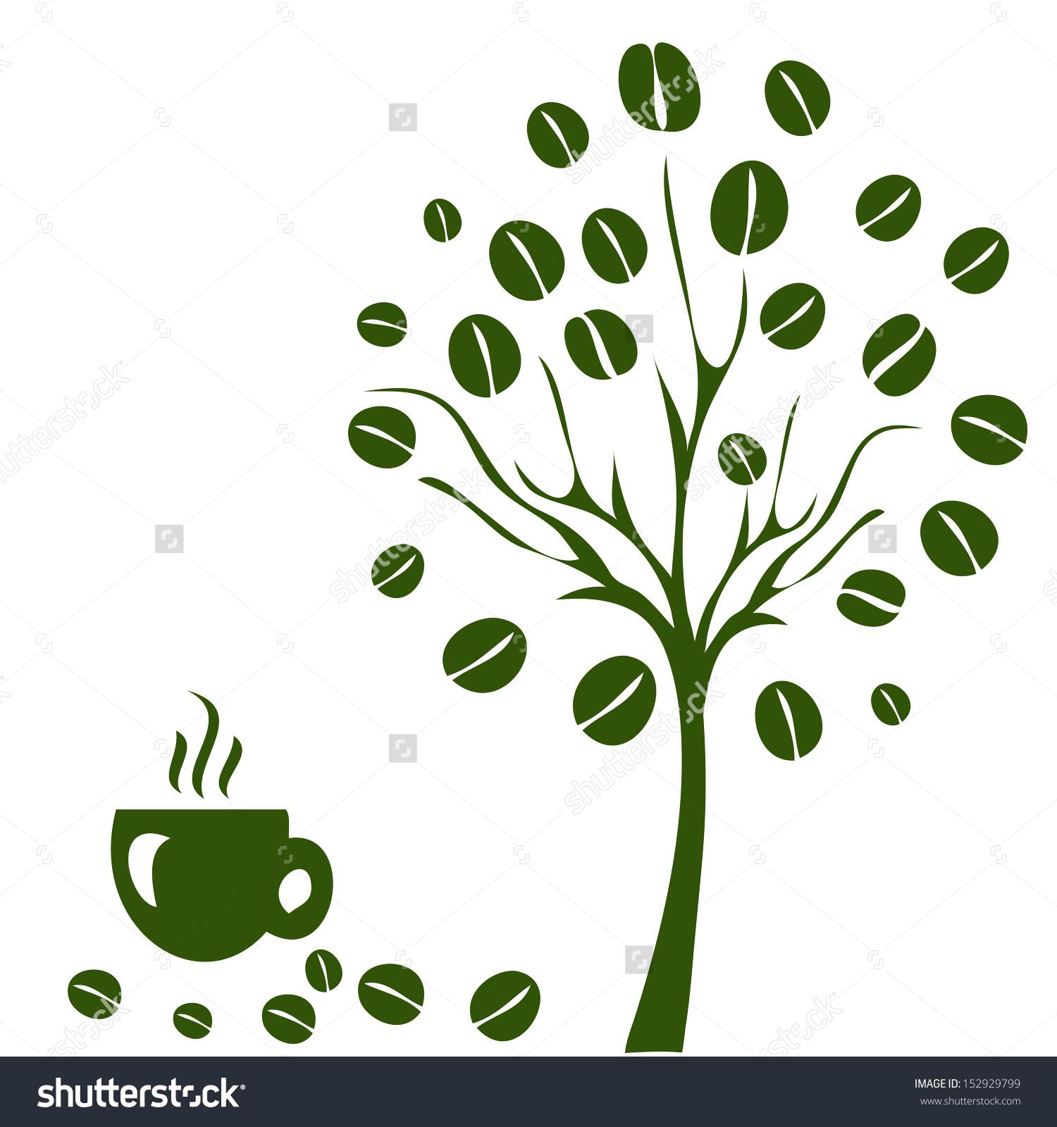 Coffee Tree Coffee Tree Concept Stock Vector 152929799.
