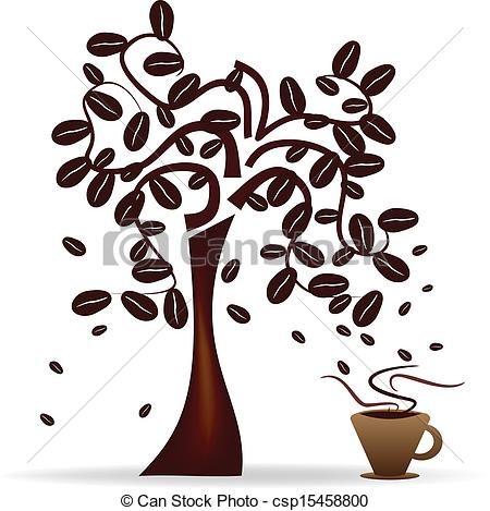 Vector of Coffee Beans tree.
