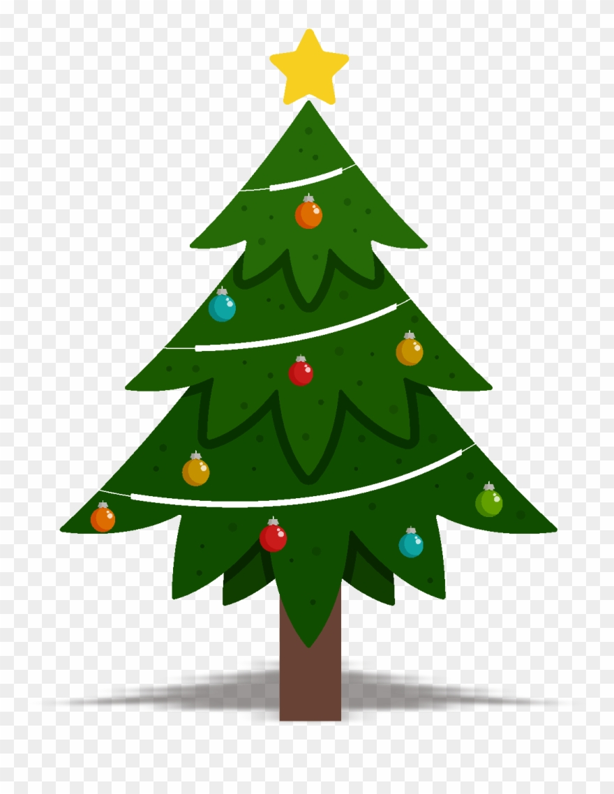 Christmas Tree Design Element Vector Png And Image.