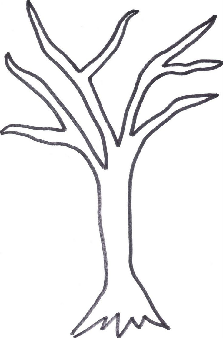 Free Stencil Of A Tree Outline, Download Free Clip Art, Free.