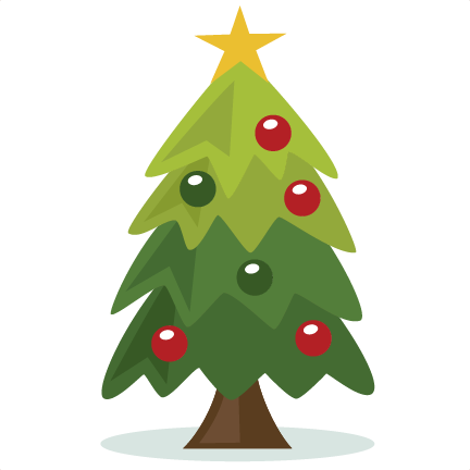 Christmas Tree Clipart Cut Out.