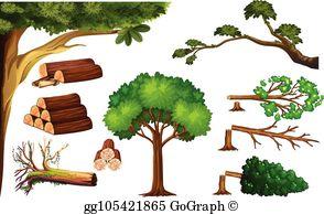 Cutting Tree Clip Art.
