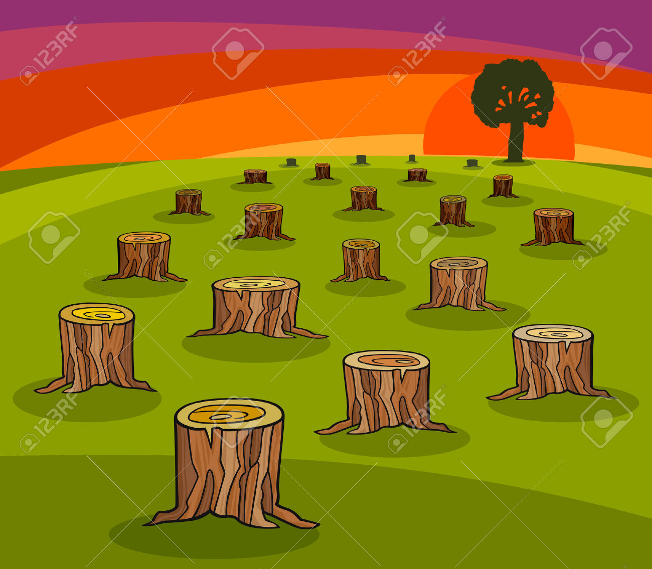 Tree damage clipart.