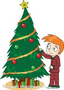 Christmas Tree Decorations Clipart.