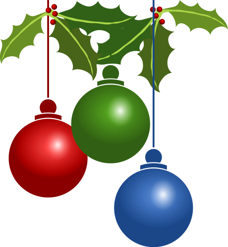 Christmas decorations clipart #9