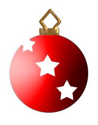Christmas Tree Ornaments Clipart.