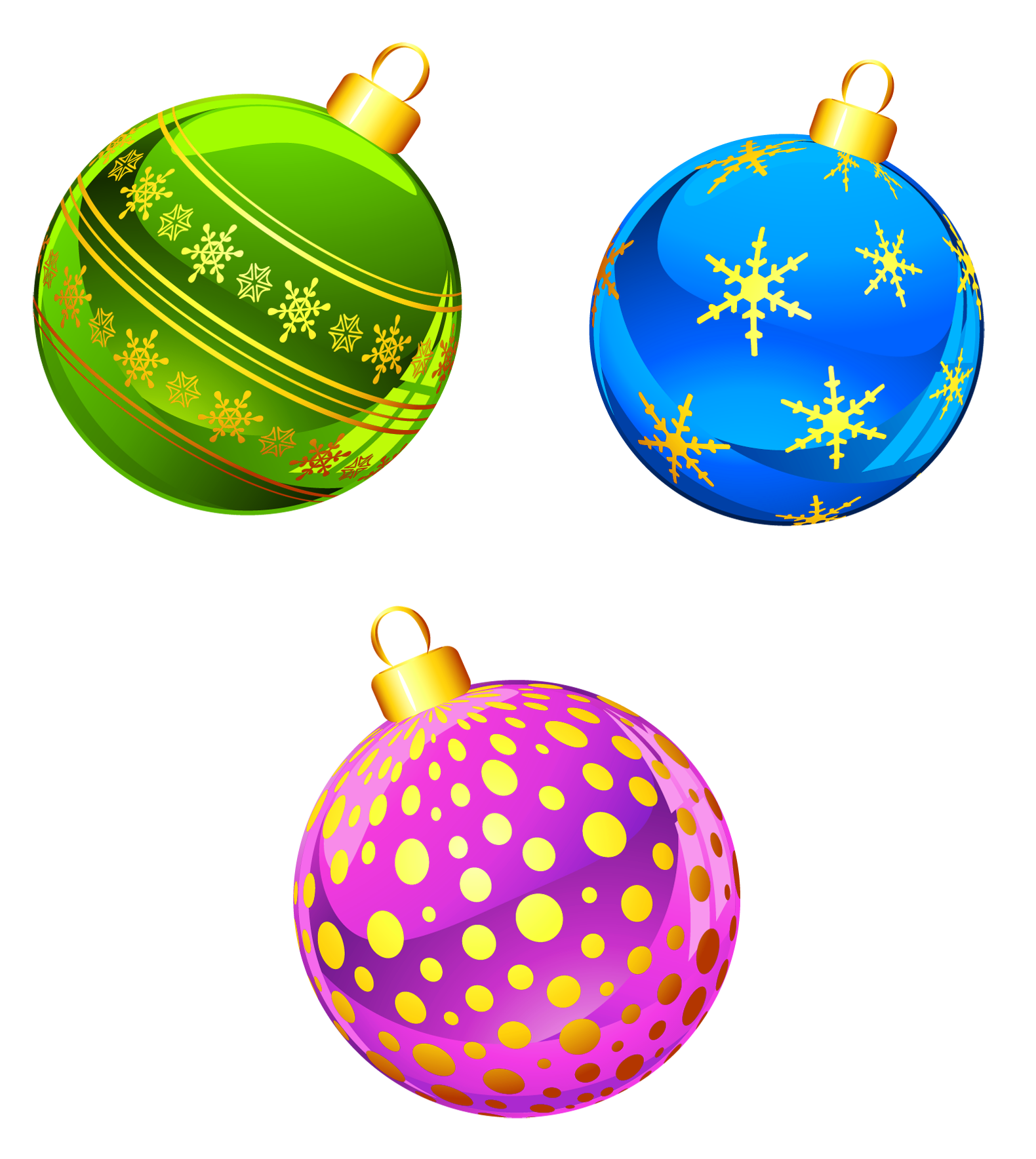 Transparent Christmas Ornaments Clipart.