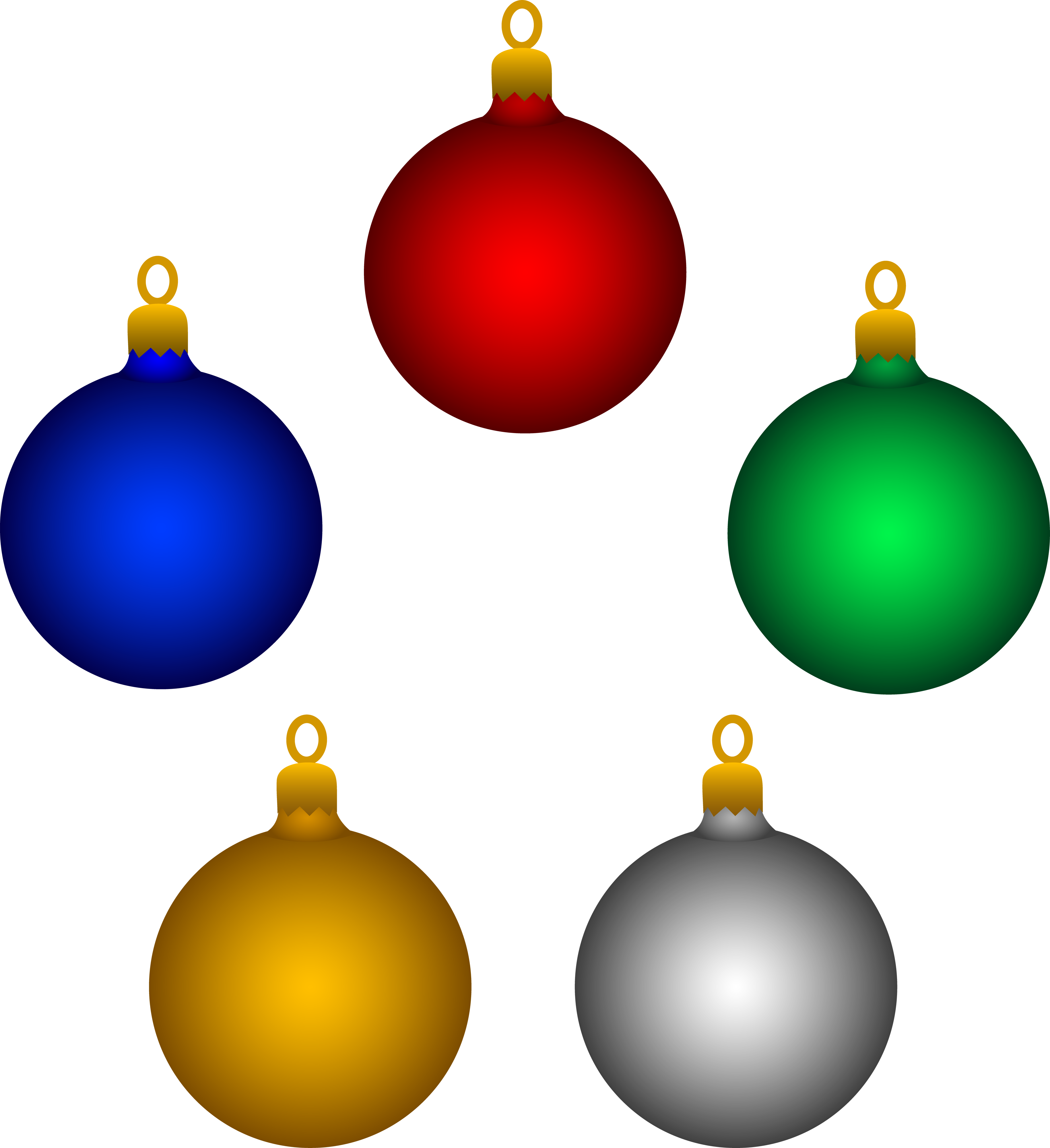 Christmas tree decorations clip art free.