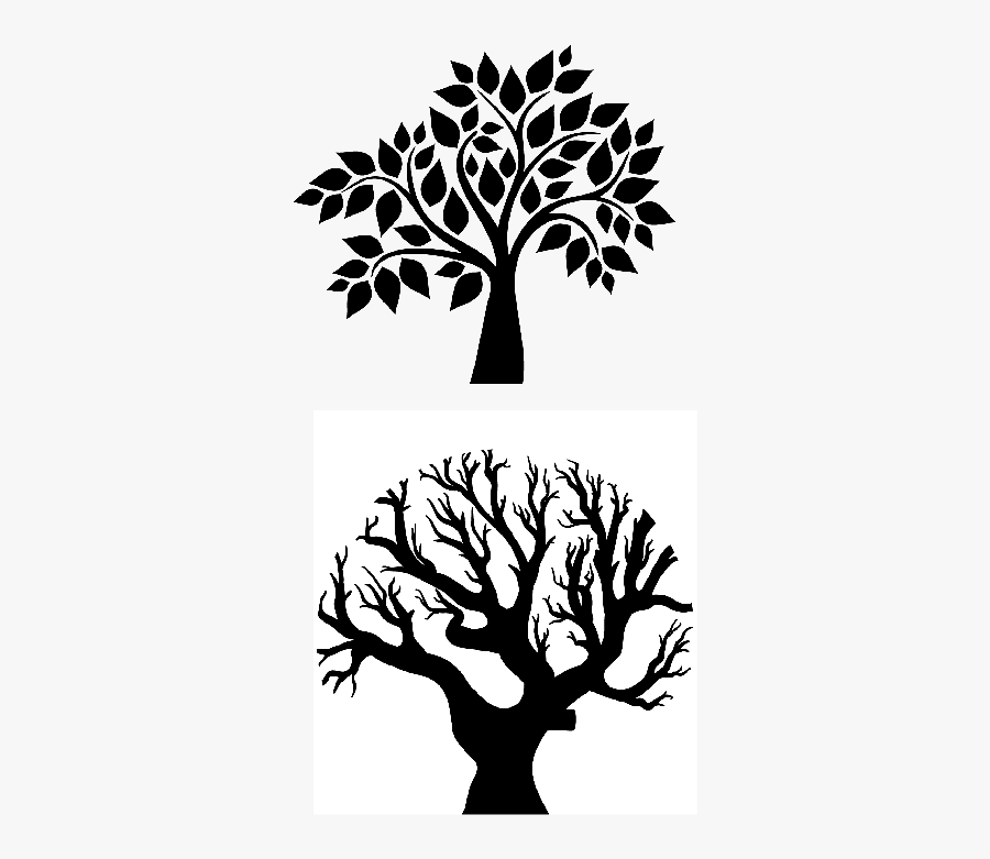 Cool Tree Designs Black And White , Free Transparent Clipart.