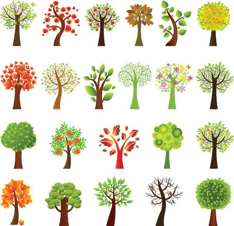 Beautiful Vector Tree Designs Clipart Picture Free Download.