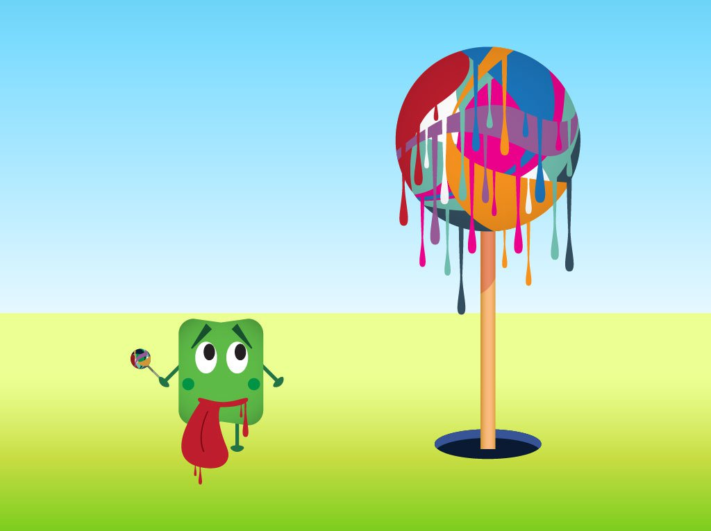 Dripping Lollipop Tree Vector Art & Graphics.