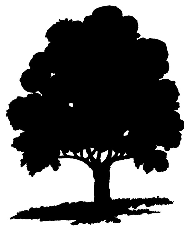 Simple Tree Silhouette.
