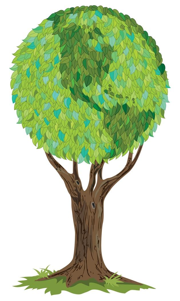 Green Earth Tree.