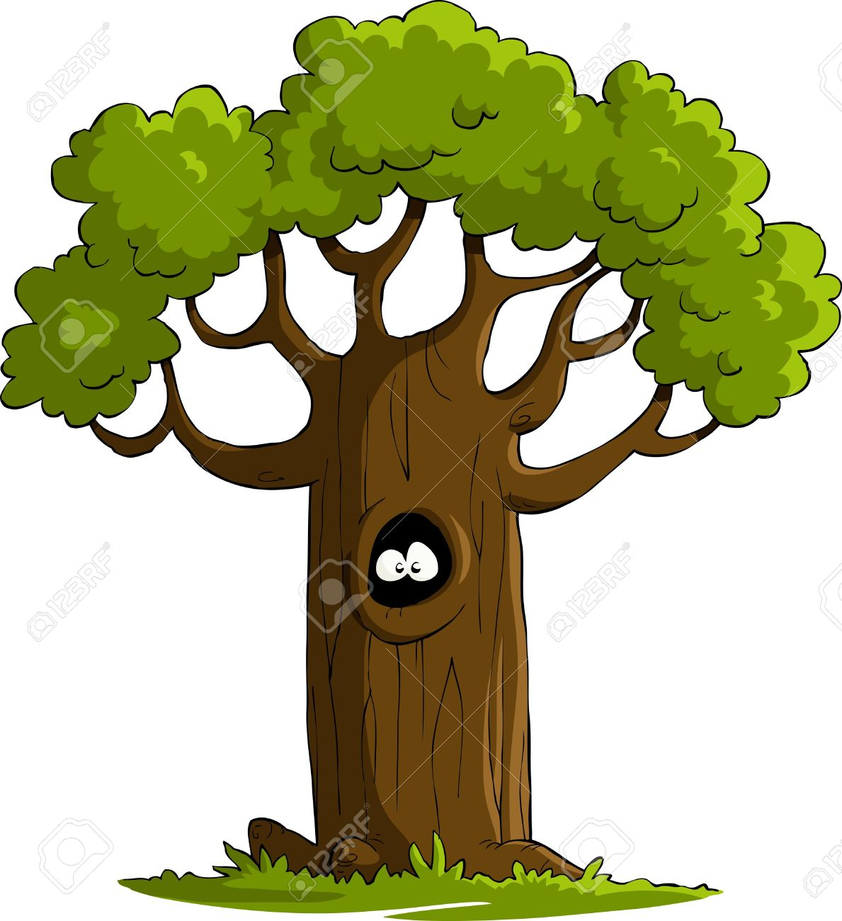 Hollow tree clipart free.