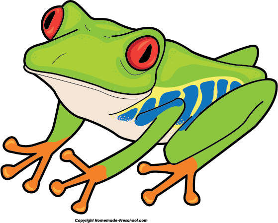 Frog withred eyes clipart black and white.