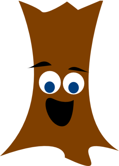 Cartoon Trees With Faces Clipart.