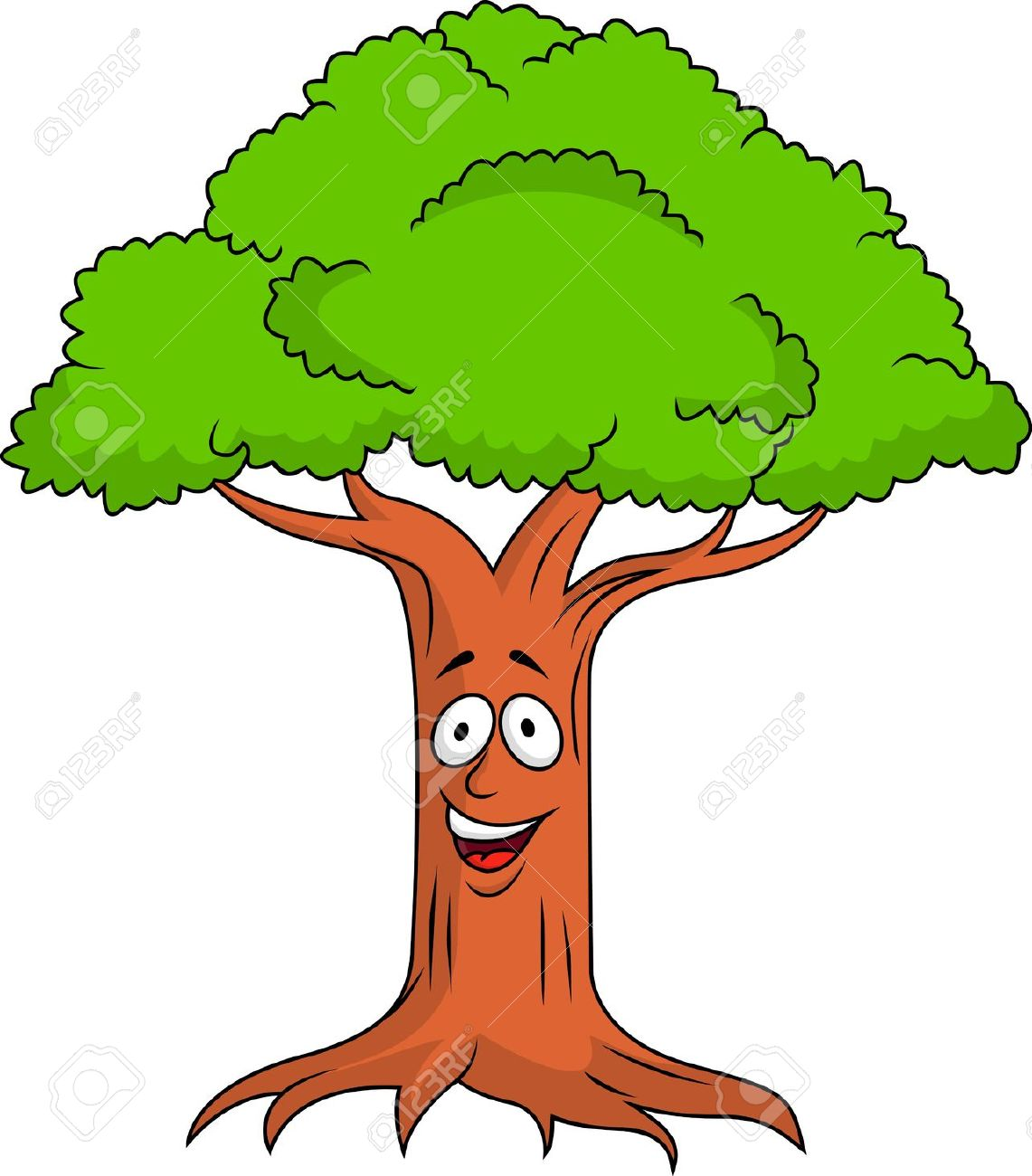 Tree face clipart.