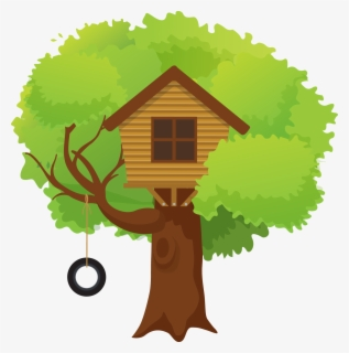 Free Tree House Clip Art with No Background.