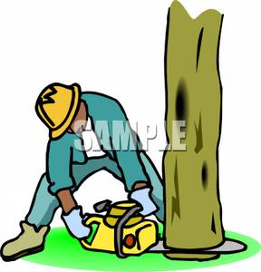Cutting Down Trees Clip Art.