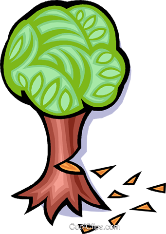 tree, cutting down a tree Royalty Free Vector Clip Art.