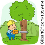 Cutting Down Trees Clipart.