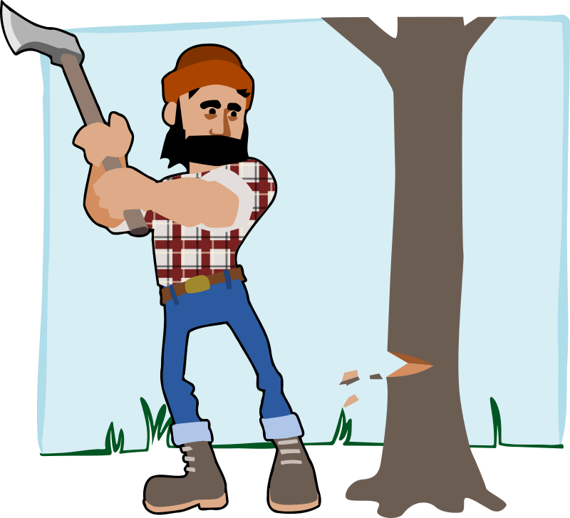Tree felling clipart.