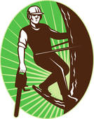 Tree Cutting Service Clipart.