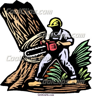 Tree felling clipart #16