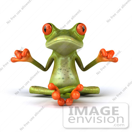 Clipart of a red eyed tree frog.