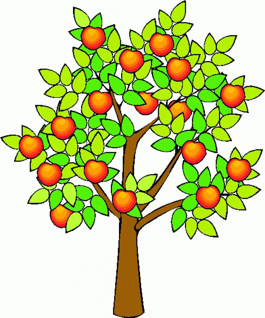 clip art fruit tree apple clipart best inside fruit tree images.