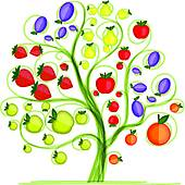 Tree fruit Clip Art Vector Graphics. 10,635 tree fruit EPS clipart.