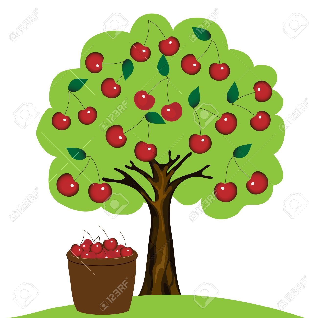 Cherry trees clipart - Clipground